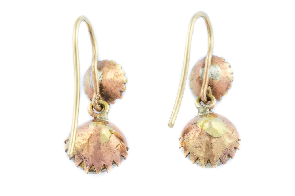 9ct Gold Victorian Paste Drop Earrings
