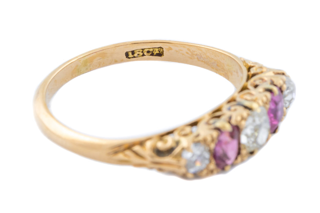 Edwardian 18ct Gold Five Stone Ring