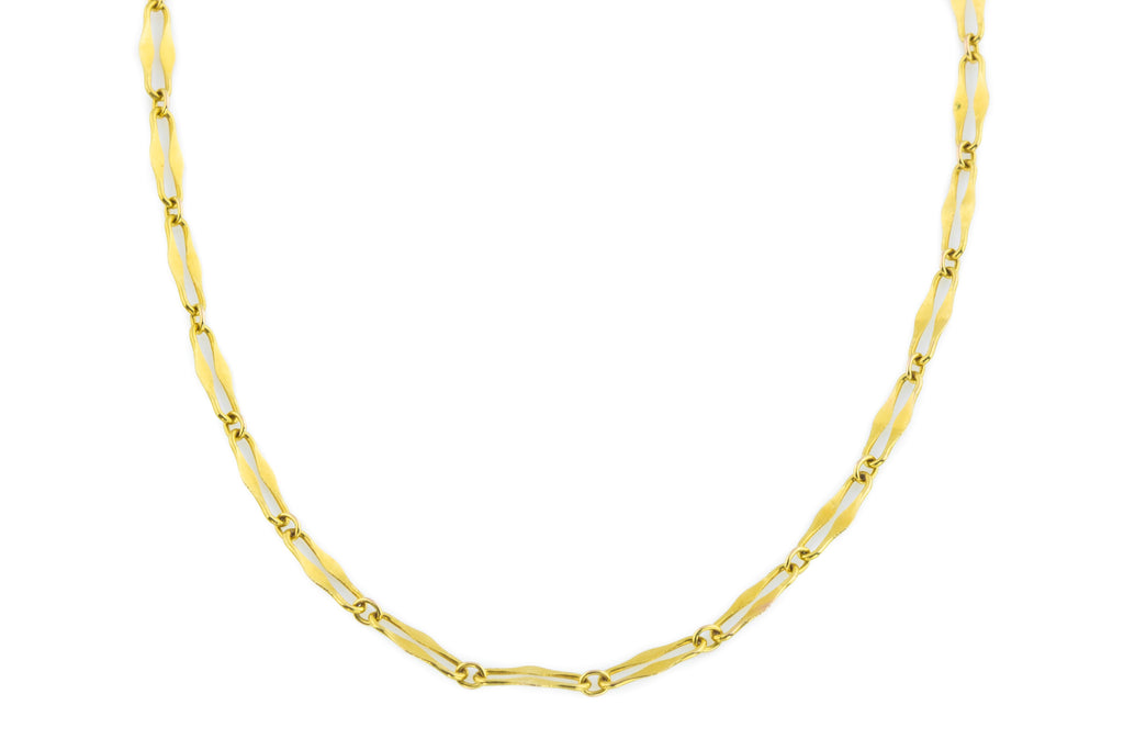 "Victorian 9ct Gold Necklace, 16"" (1.6g)"