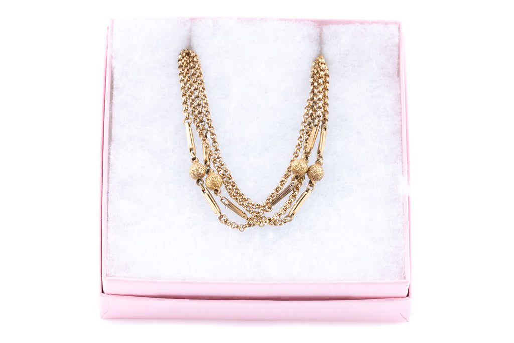 "Victorian 9ct Rose Gold Chain Necklace, 48.8"" (18.3g)"
