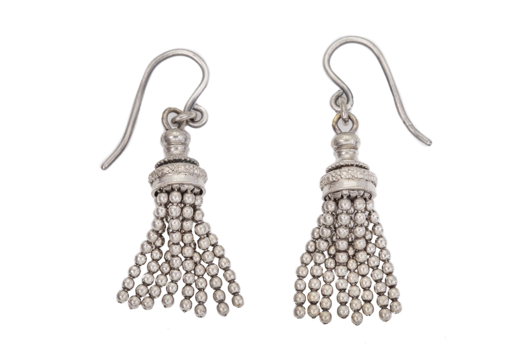 Victorian Silver Tassel Earrings