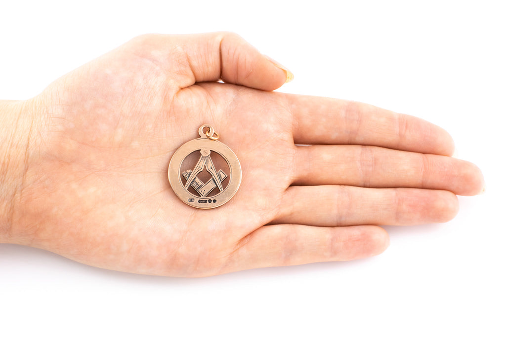 Antique 9ct Gold Masonic Pendant c.1913