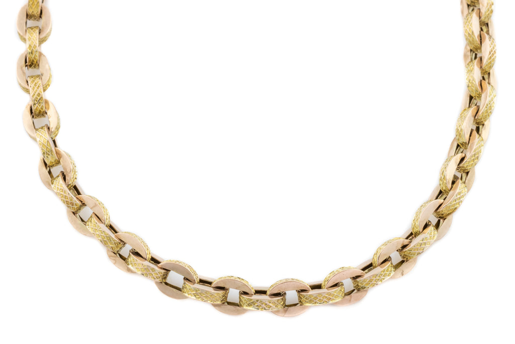 "Victorian 9ct Gold Belcher Chain Necklace, 18.5"" (13.5g)"