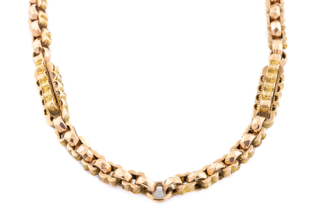 "Victorian 9ct Gold Chain Necklace, 16.5"" (29g)"