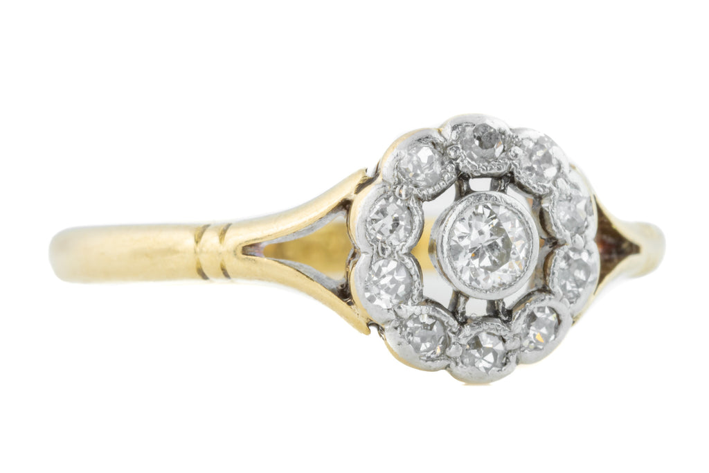 Antique 18ct Gold Diamond Ring (0.23ct)