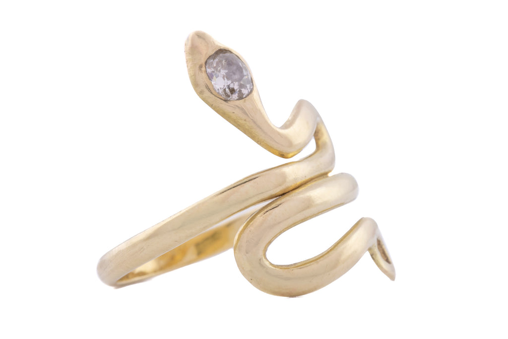 15ct Gold Victorian Snake Diamond Ring (0.20ct)