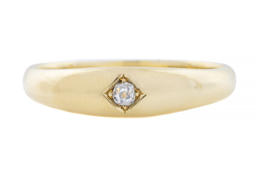 "Antique 18ct Gold Diamond ""Gypsy"" Ring (3.45g)"