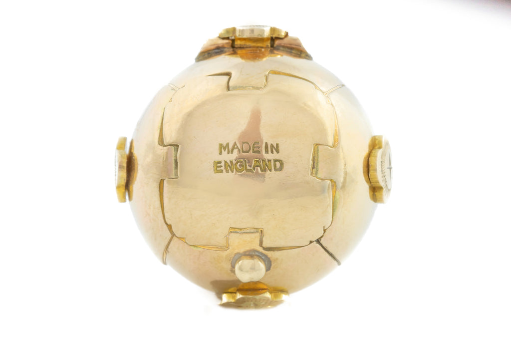 Fine English Antique 9ct Gold Masonic Orb Pendant