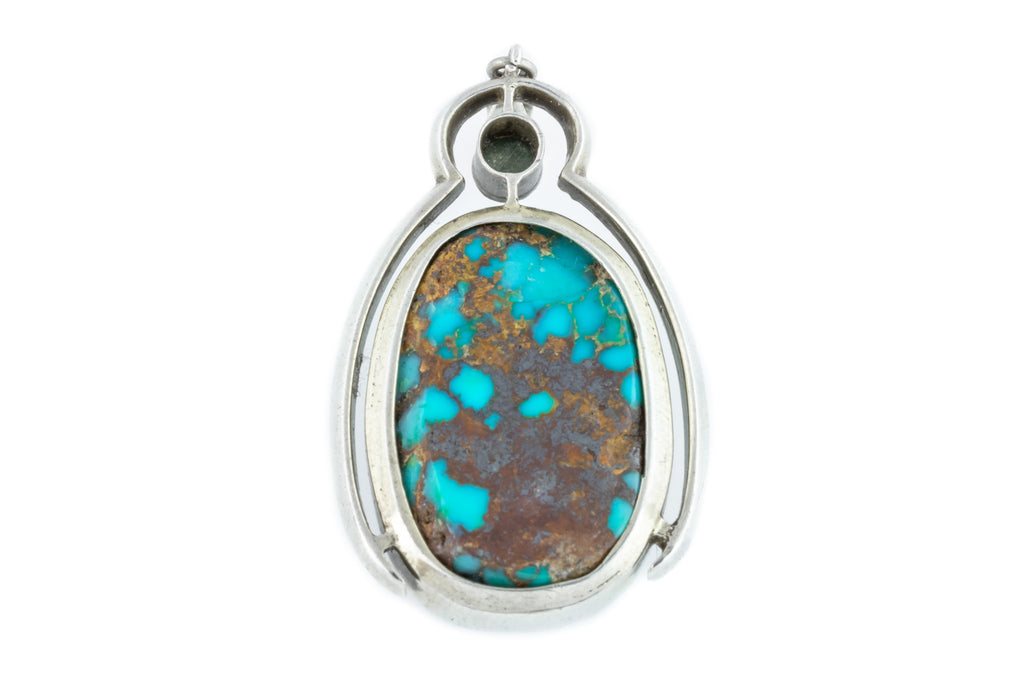 Large Arts and Crafts Era Turquoise Pendant