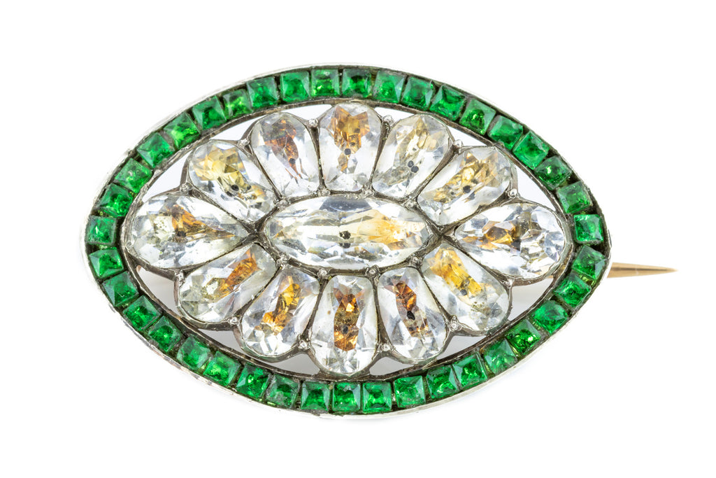Georgian Green Paste Brooch