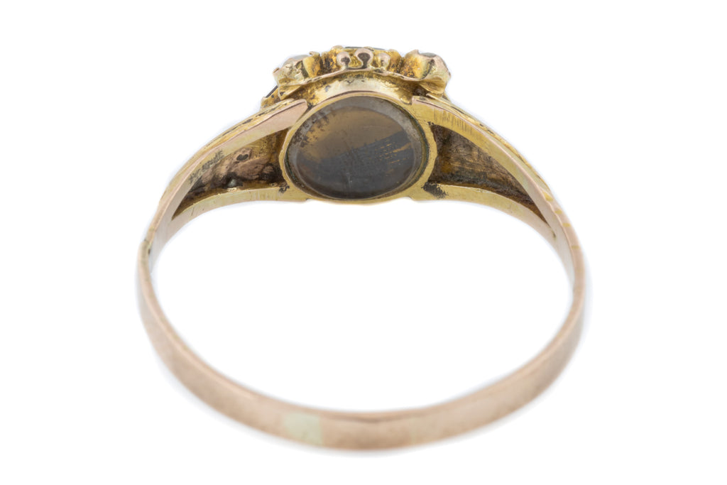 9ct Gold Victorian Paste Pearl and Diamond Ring