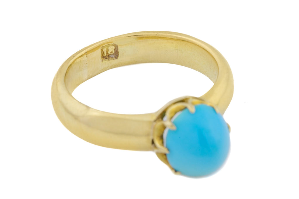 Victorian 18ct Gold Turquoise Ring