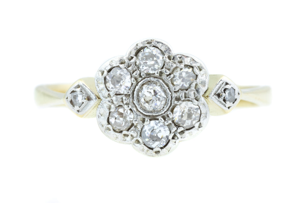 Art Deco Diamond Cluster Ring (0.25ct)