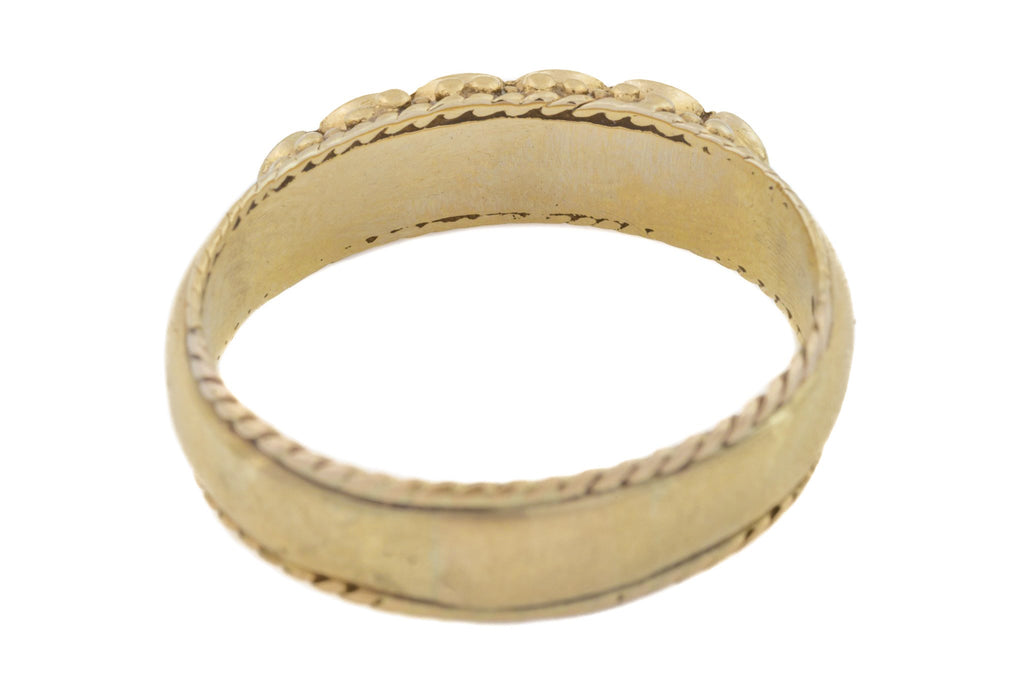 "Antique 10ct Gold Acrostic Ring ""REGARD"""