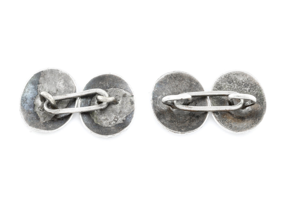 Beautiful Engraved Victorian Silver Cufflinks