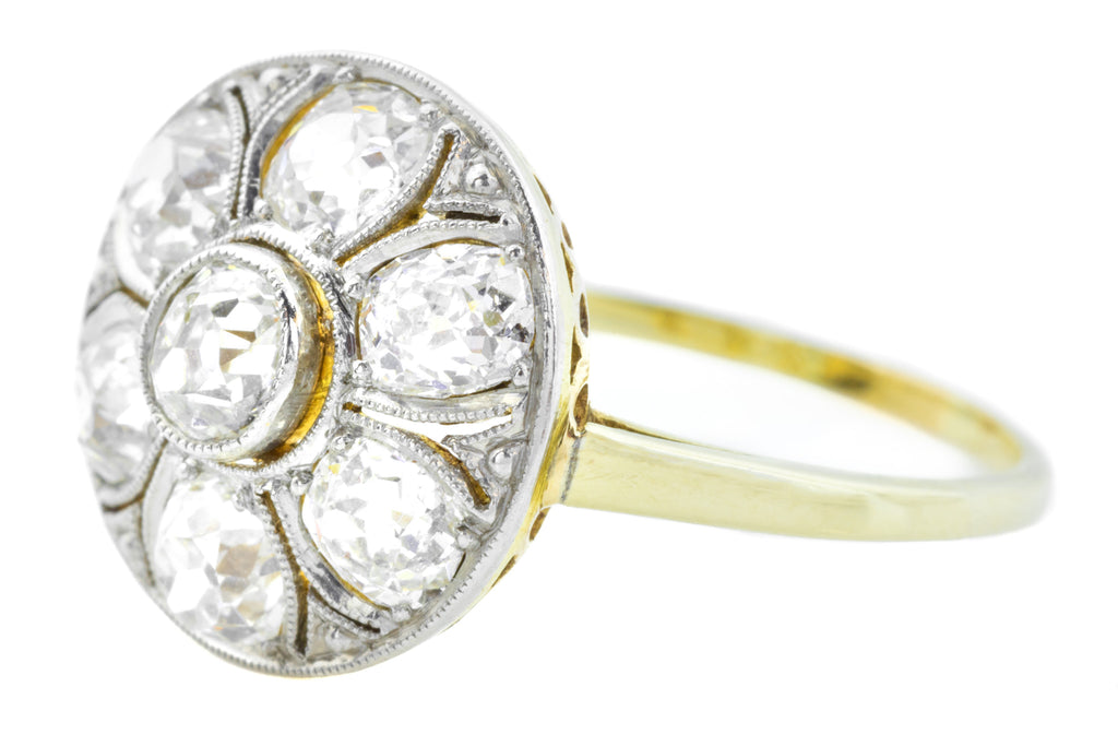 Art Deco Diamond Cluster Ring (1.35ct)