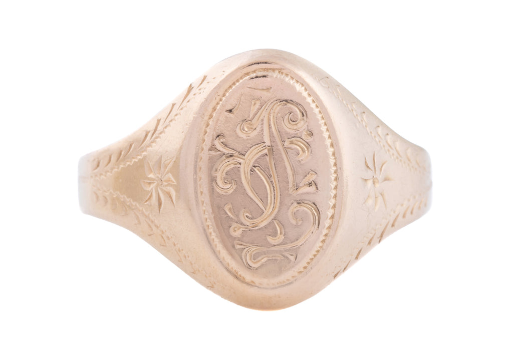 14ct Gold Antique Russian Signet Ring 6.3g