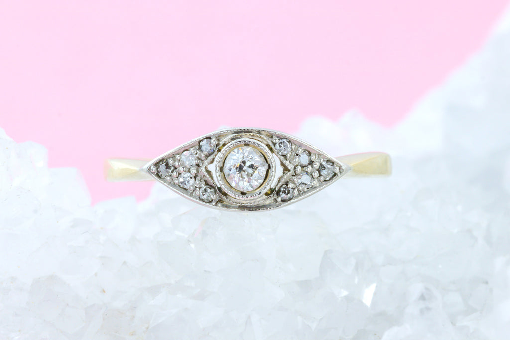 Art Deco Diamond Cluster Ring (0.16ct)
