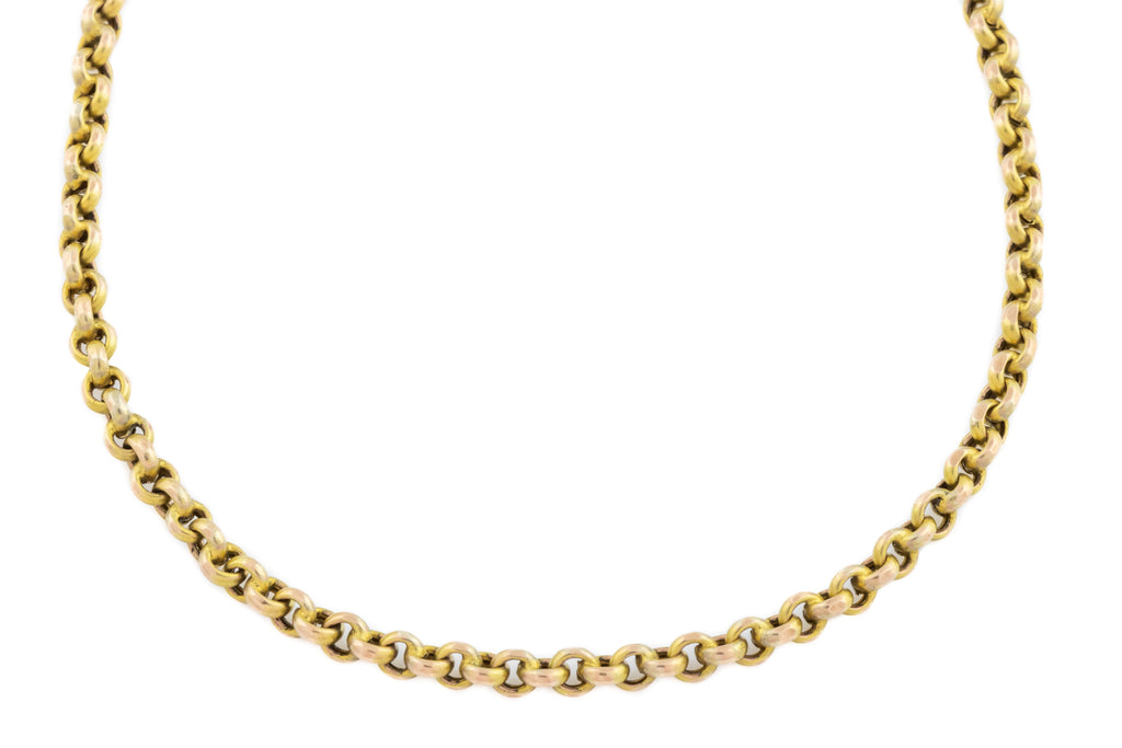 "Victorian 9ct Gold Faceted Belcher Chain 18"" (7.4g)"