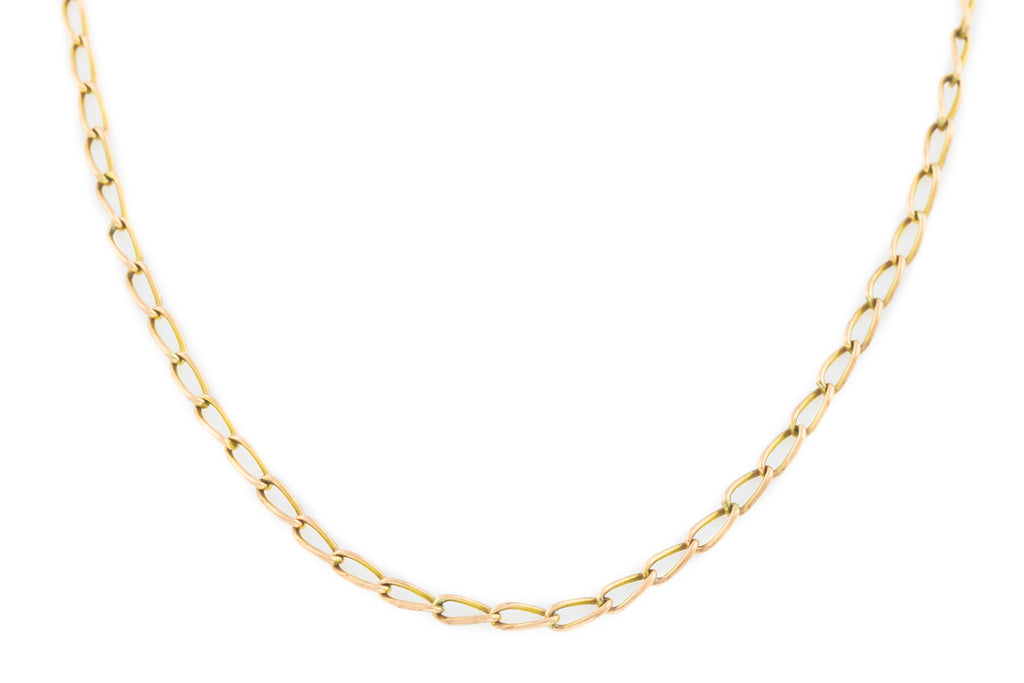 "Antique 9ct Rose Gold Chain Necklace 17"" (2.13g)"