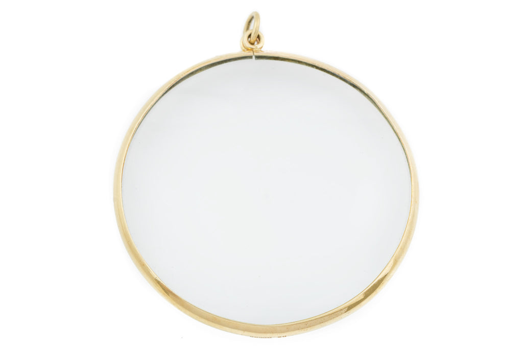 9ct Gold Magnifying Glass Pendant