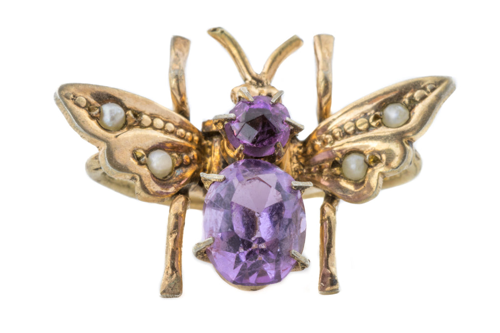 Antique Amethyst Bug Hair Ornament (0.66ct) c.1900