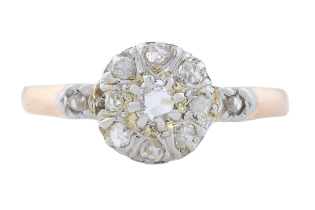 Antique French Diamond Cluster Ring (0.21ct)