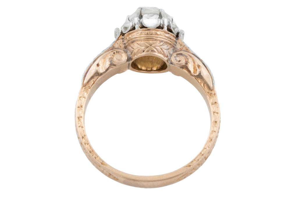 18ct Gold Antique Diamond Engagement Ring (0.60ct)
