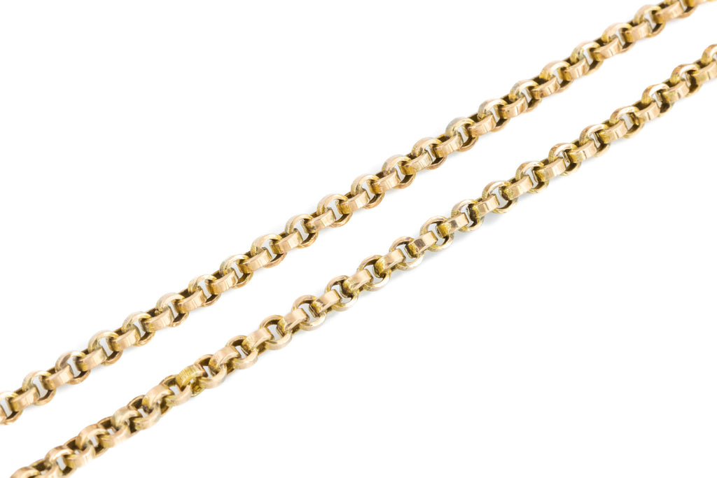 "10ct Gold Antique Belcher Chain Necklace 16.5""- 7.0g"