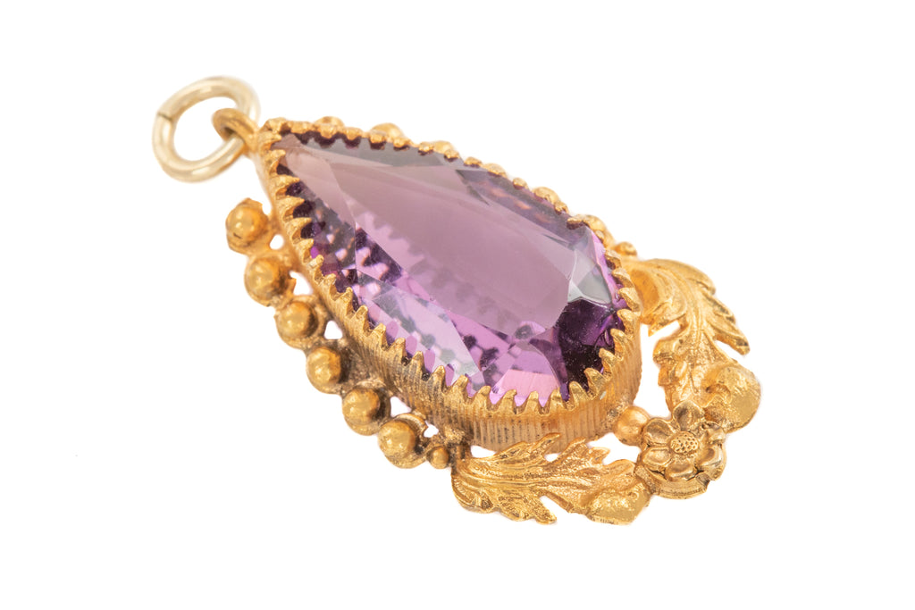 Victorian Pinchbeck Amethyst Pendant (4.30ct)