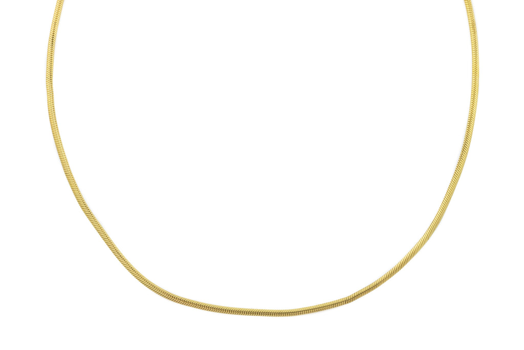"Antique 18ct Gold Snake Chain Necklace, 18.5"" (8.7g)"