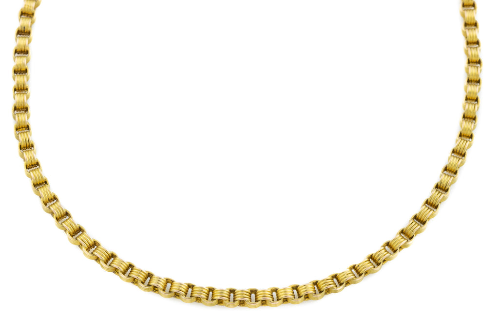 "15ct Gold Antique Belcher Chain Necklace 16"" (11.4g)"