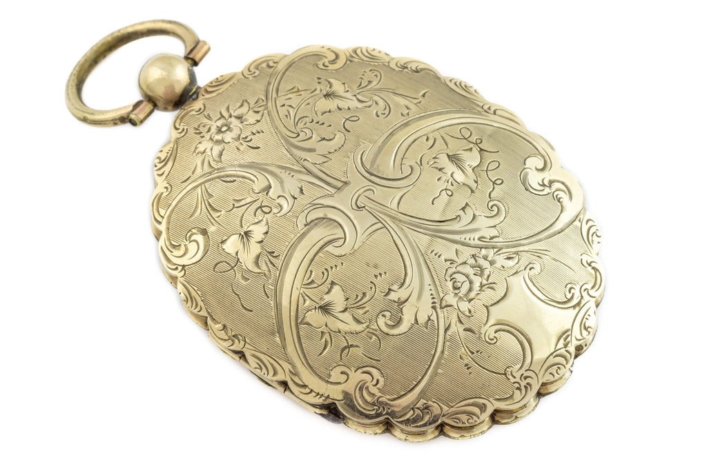 Extra Large Victorian 9ct Gold Locket