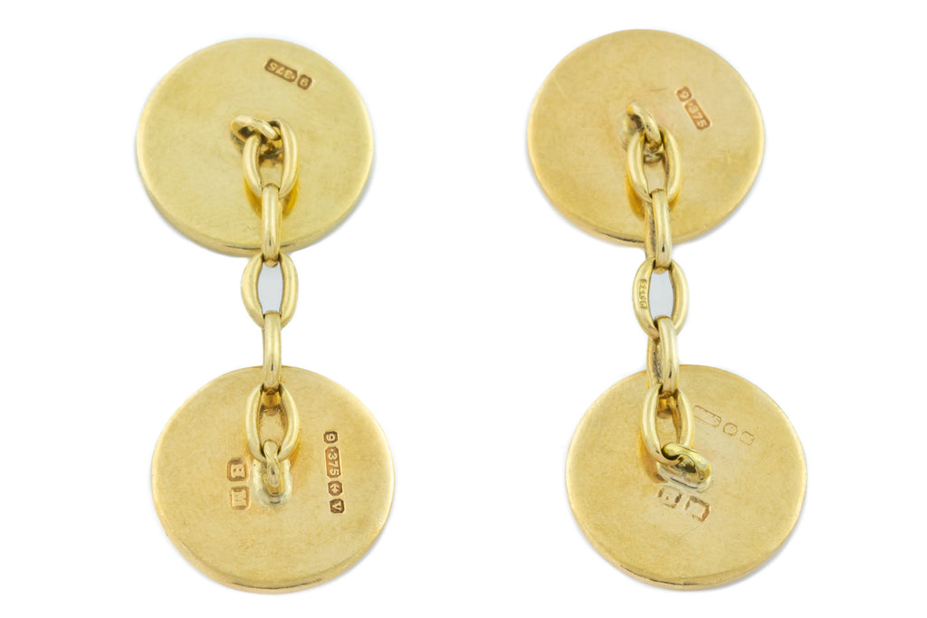 Art Deco Era Solid 9ct Gold Cufflinks