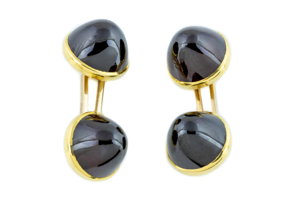 Antique 18ct Gold Garnet Cufflinks (42.84ct)