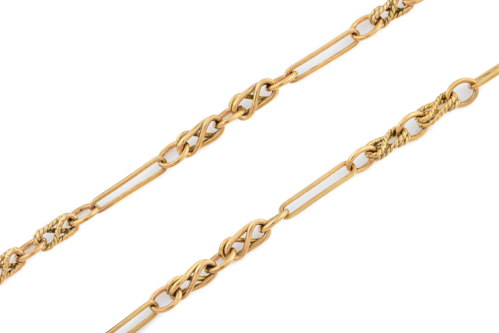 "Antique 9ct Rose Gold Chain Necklace, 20.5"" (15g)"