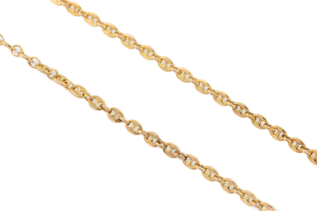 "9ct Rose Gold Victorian Anchor Link Chain 20"" (9g)"