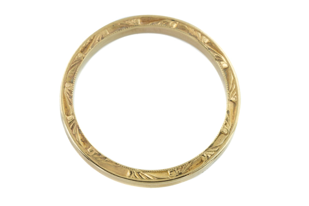 Art Deco 15ct Gold Wedding Band