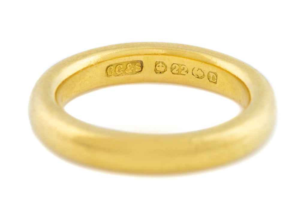 Antique 22ct Gold Wedding Ring c.1852