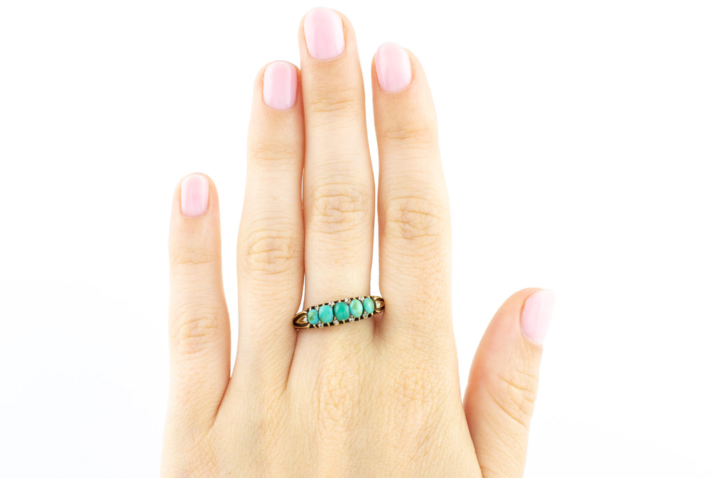 Antique Turquoise and Diamond Ring