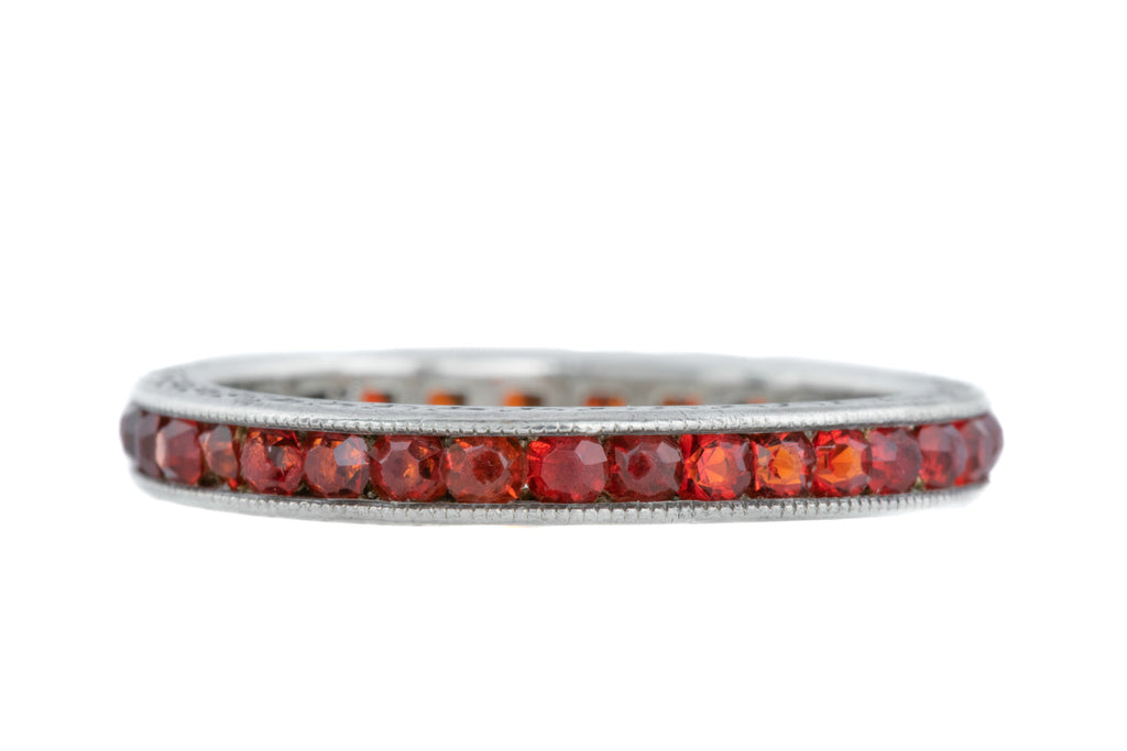 Art Deco Ruby Paste Full Eternity Ring