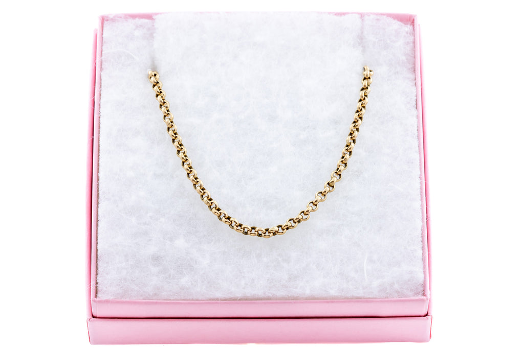 "Antique 9ct Gold Belcher Chain Necklace, 23"" (7.3g)"