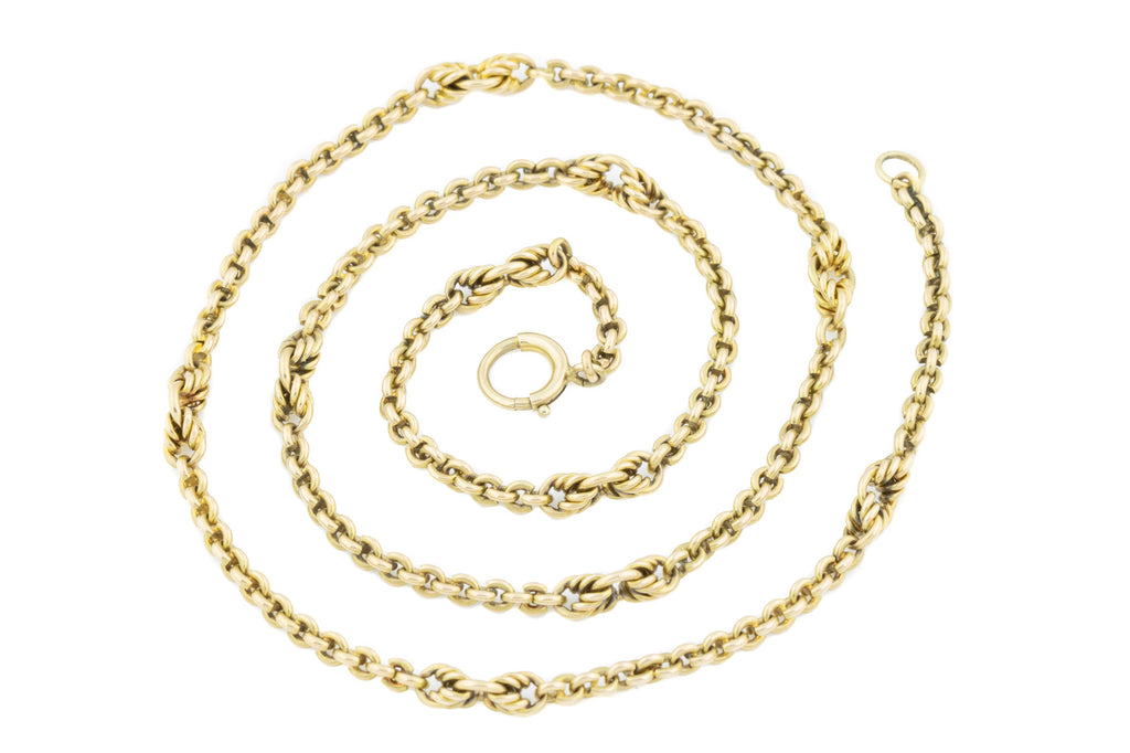 "Antique 15ct Gold Belcher Chain Necklace, 19.5"" (21g)"