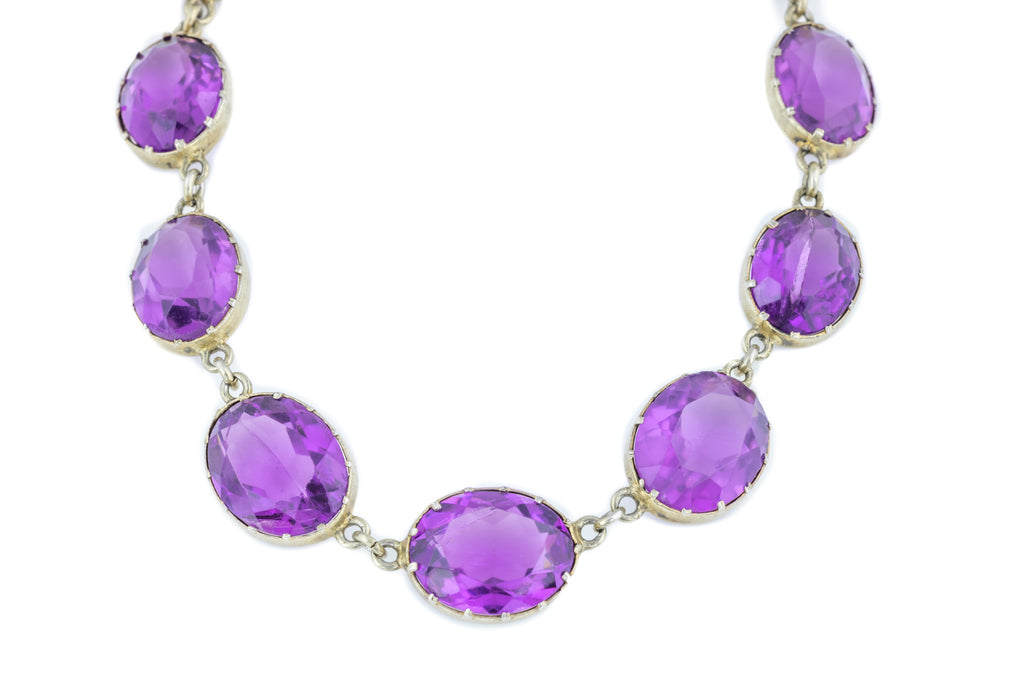 Victorian Amethyst Paste Rivière Necklace