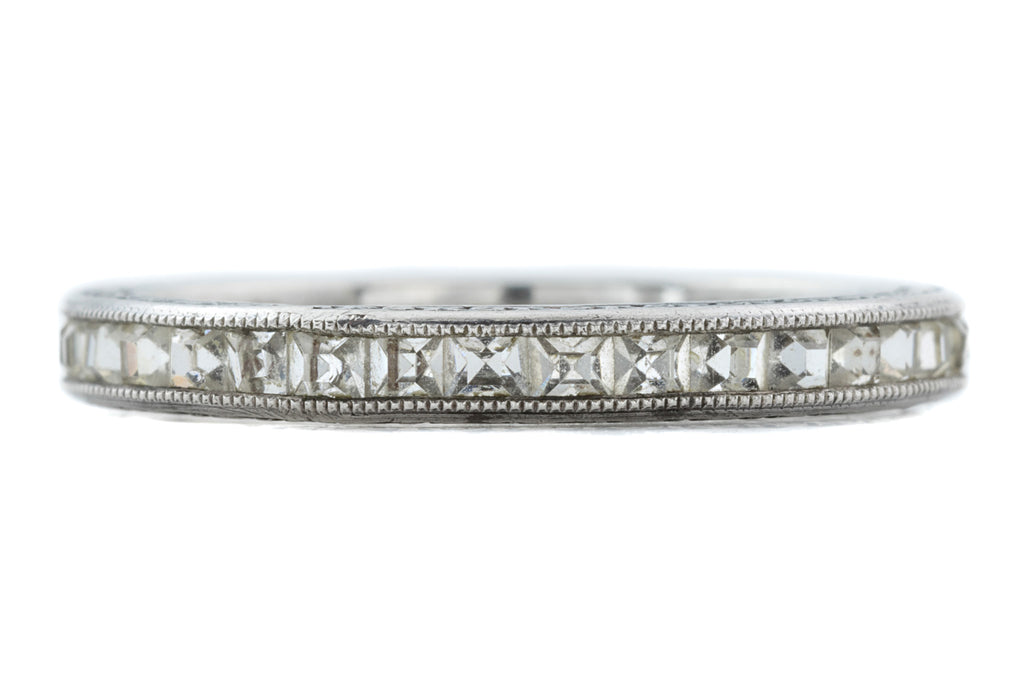 Silver Art Deco Paste Eternity Ring