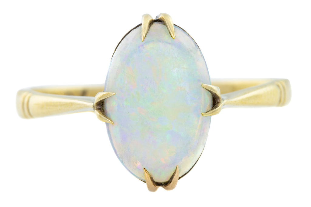 Antique 9ct Gold Opal Solitaire Ring (0.83ct)