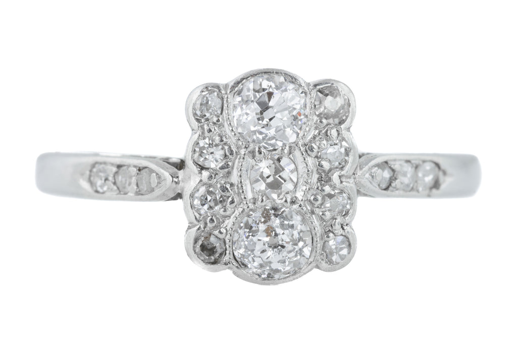 Art Deco 18ct Gold Diamond Cluster Ring c.1920