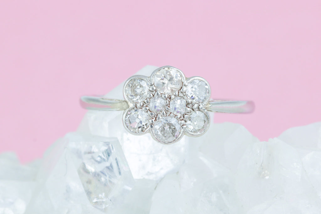 Art Deco Diamond Cluster Ring (0.55ct)
