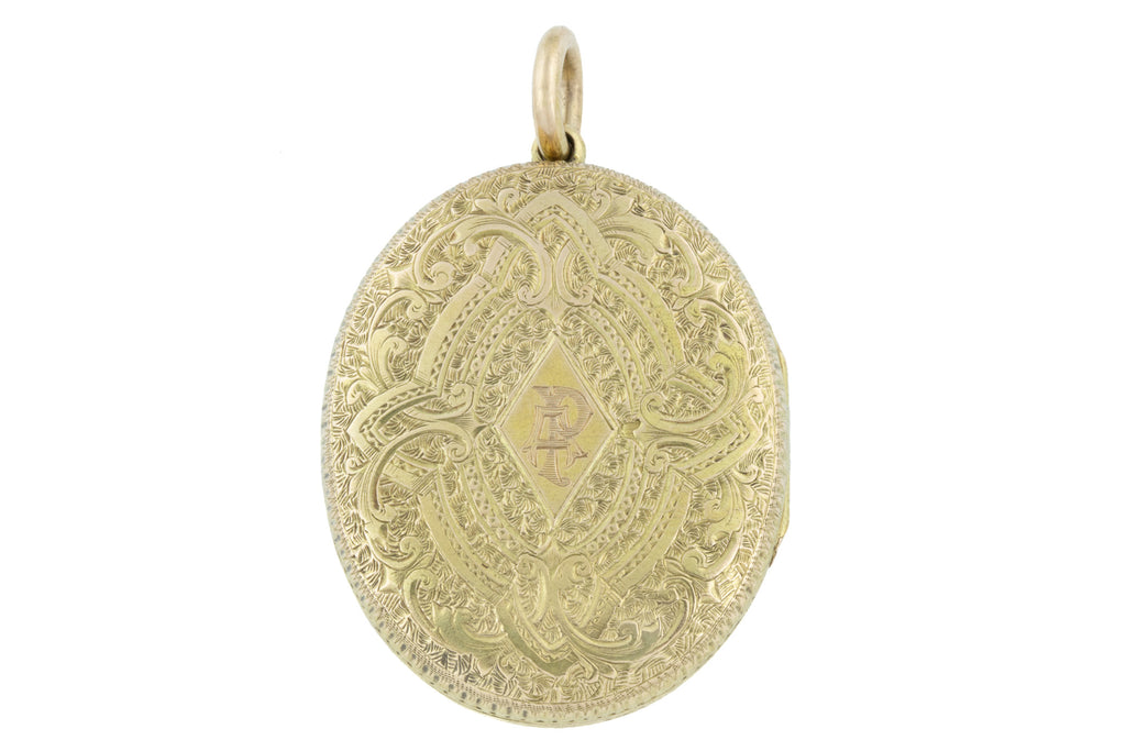 Large 15ct Gold Victorian Locket c.1880