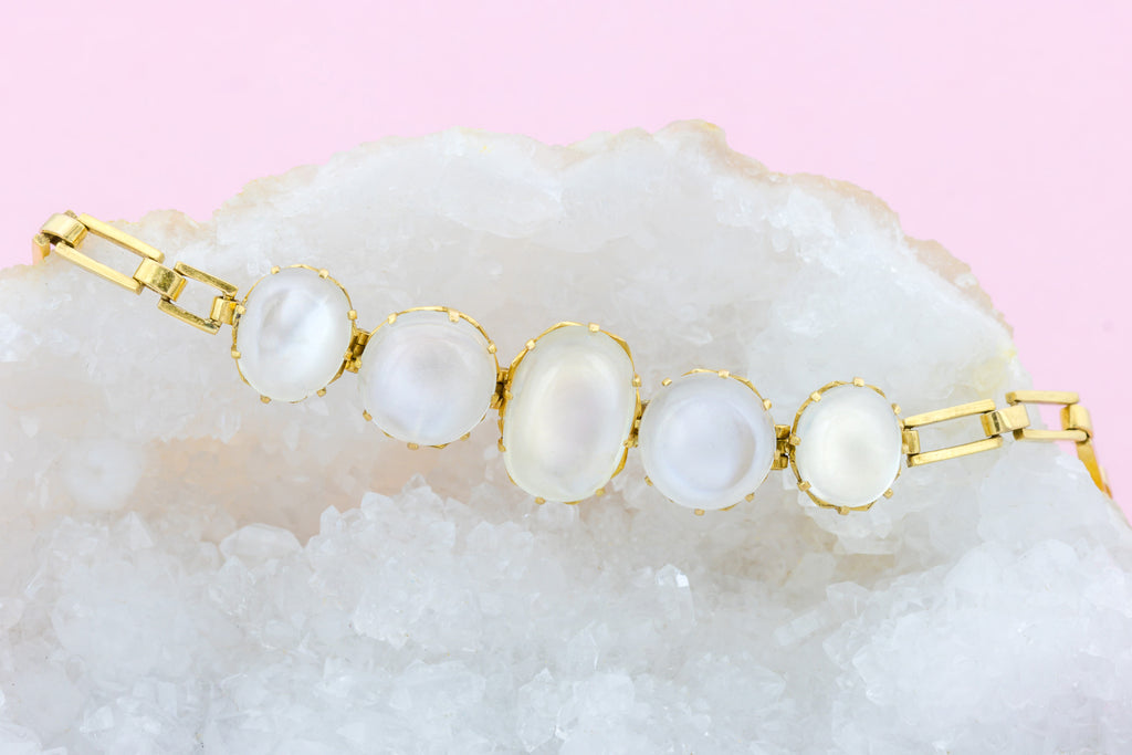 Art Deco Moonstone Bracelet (13.27ct)